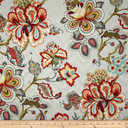 HGTV Home Bespoke Blossoms Mineral Fabric By The Yard