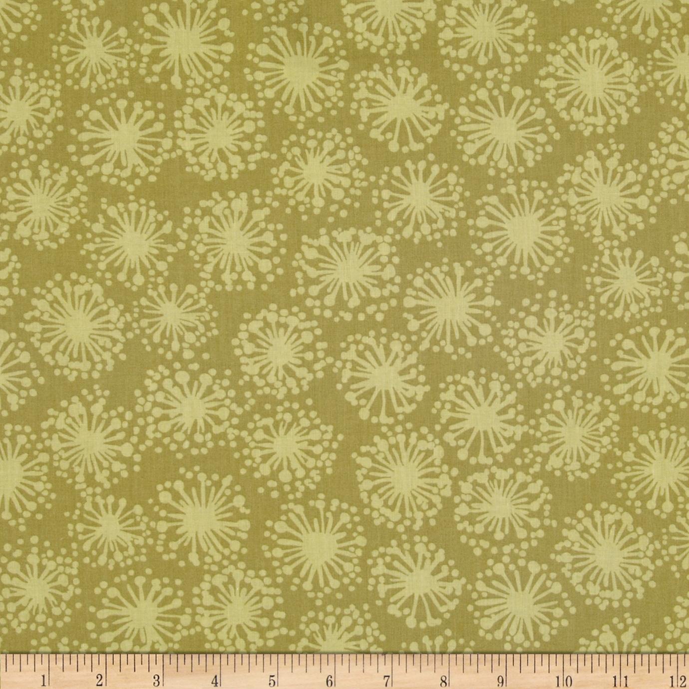 Hab-i-tat Dandelion Dark Olive Fabric By The Yard