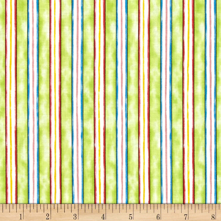 Happy Catz Stripe Green Fabric