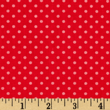 Happy Hour Dots Red Fabric