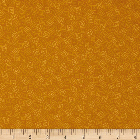 Harmony Flannel Squares Amber Fabric By The Yard
