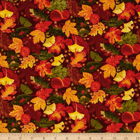 Harvest Leaves Fabric By The Yard