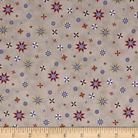 Headin' Home Stars Sepia Fabric By The Yard