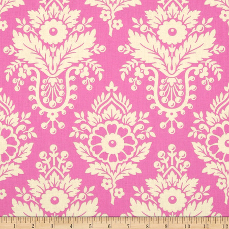Heather Bailey Up Parasol Lulu Bright Pink Fabric