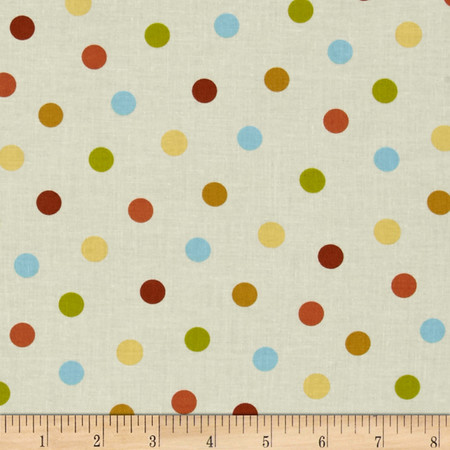 Hedgehugs Dot Cream Fabric