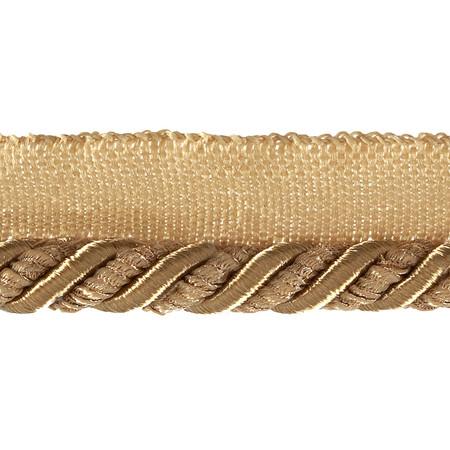 Helena 3/8'' Decorative Lip Cord Trim Gold