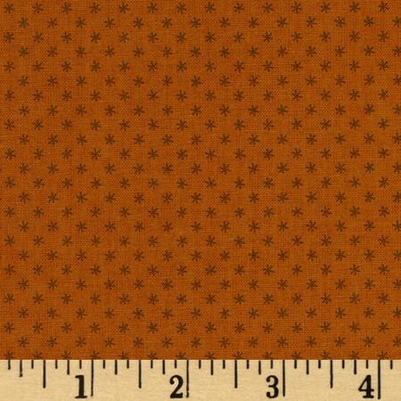 Historic Companions Stars Cheddar Orange Fabric