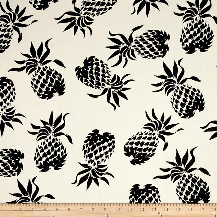 Hoffman Large Pineapples Black Fabric
