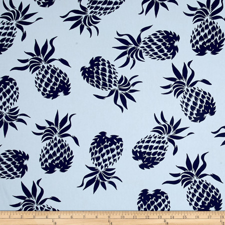 Hoffman Large Pineapples Blue Fabric
