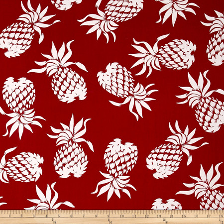Hoffman Large Pineapples Red Fabric