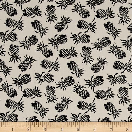 Hoffman Mini Pineapples Black Fabric