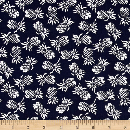 Hoffman Mini Pineapples Navy Fabric