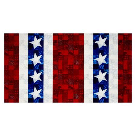 Hoffman Patriotic Palette Large Stripe Americana Fabric