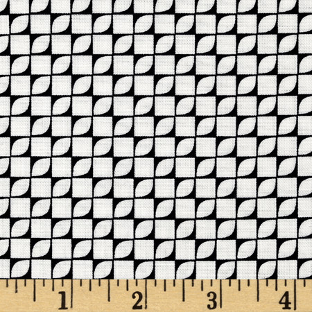 Hoffman Simply Eclectic Geo Blocks Black/White Fabric By The Yard
