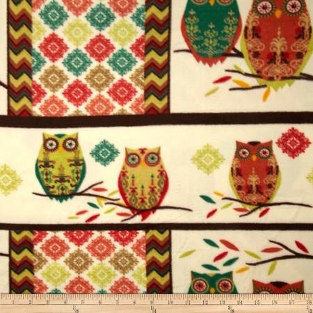 Holiday Hoot Fleece Hoot Red/Green Fabric