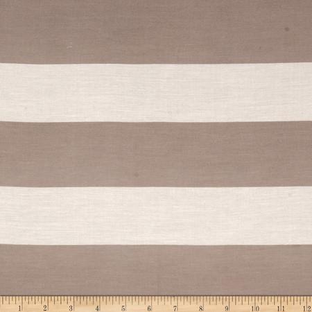 Home Dec Stripes Taupe/Cream Fabric