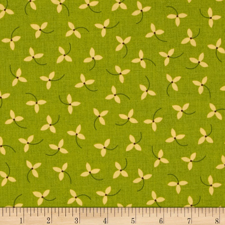 Home for Harvest Sprig Green Fabric