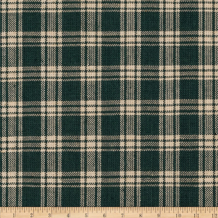 Homespun Basics Plaid Tan/Green Fabric
