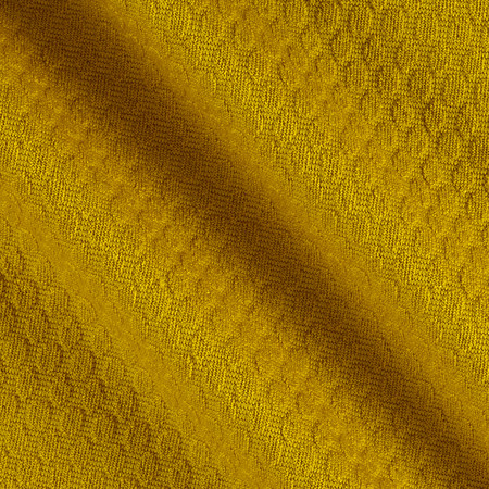 Honeycomb Double Knit Sulphur Fabric By The Yard