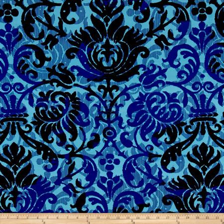 ITY Jersey Knit Sarrono Lagoon Fabric