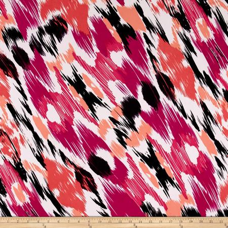 ITY Jersey Knit Whitney Geranium Fabric