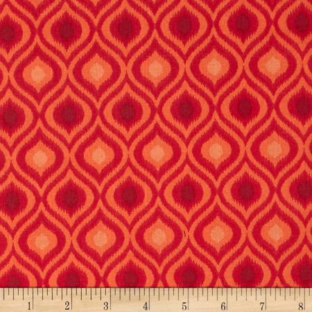 Ikat Tonal Flame Fabric