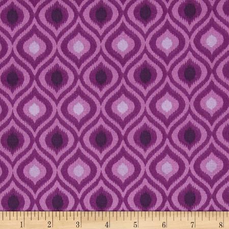Ikat Tonal Purple Fabric