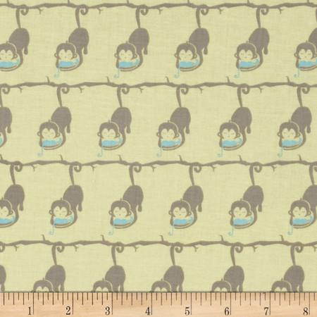 Imaginarium Monkeys Yellow Fabric