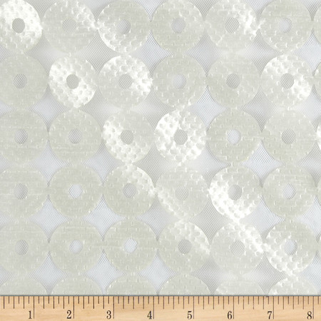 Iman Sayan Circles Sheer Alabaster Fabric