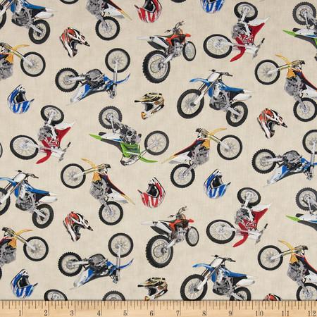 In Motion Motorcross Cream Fabric