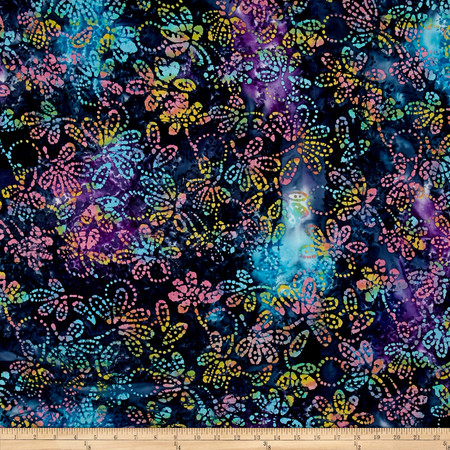 Indian Batik Gypsy Floral Lavendar/Multi Fabric