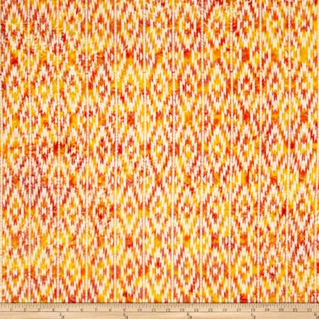 Indian Batik Sierra Nevada Stripe Cream Fabric By The Yard