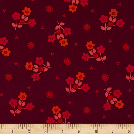 Intrigue Bouquet Red/Burgundy Fabric