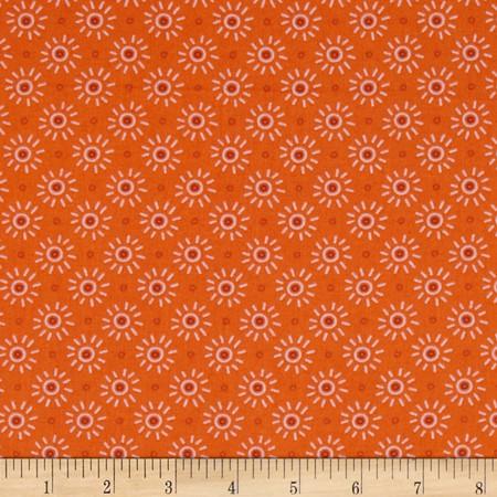 Intrigue Daisy Orange Fabric