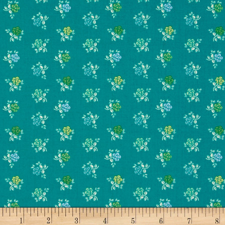 Intrigue Rose Teal Fabric