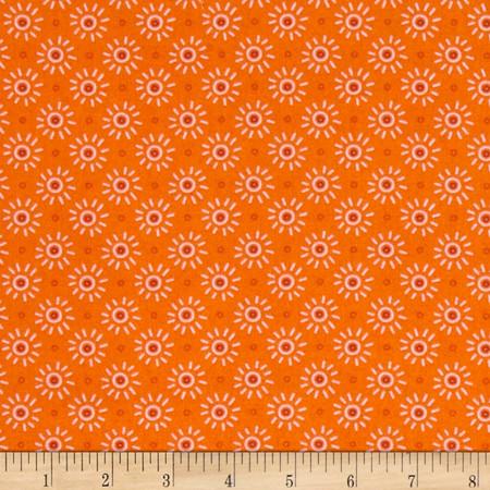 Intrigue Sunburst Orange Fabric By The Yard