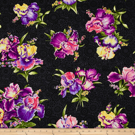 Irresistible Iris Irresistible Iris Black/Multi Fabric By The Yard