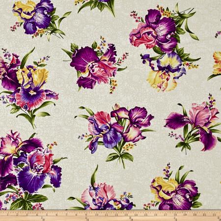 Irresistible Iris Irresistible Iris Cream/Multi Fabric By The Yard