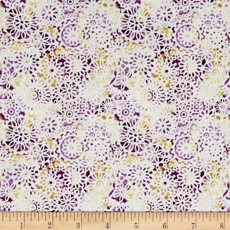 Irresistible Iris Lacey Medallions Purple/Multi Fabric By The Yard