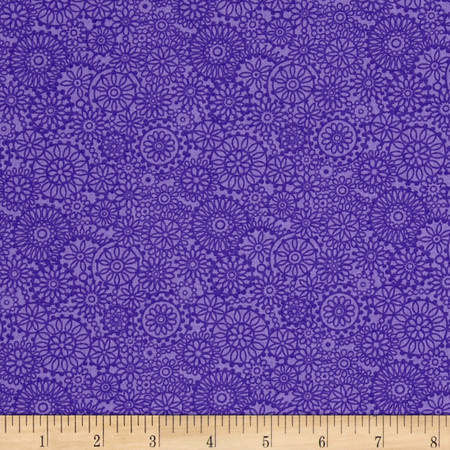 Irresistible Iris Tonal Medallions Light Purple Fabric By The Yard