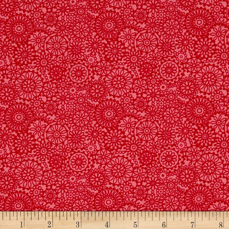 Irresistible Iris Tonal Medallions Pink Fabric By The Yard