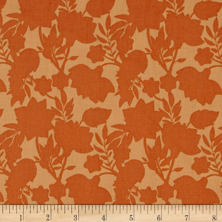 Isabella's Floral Shade Golden Fabric By The Yard