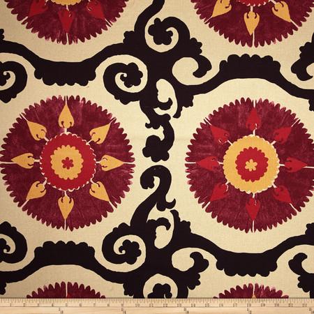 Isabelle De Borchgrave Landry Mulberry Fabric