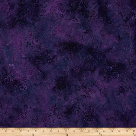 Island Batik La Bamba Purple Floral Fabric