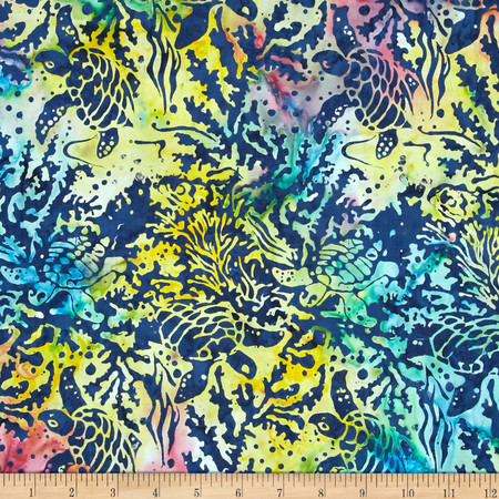 Island Batik Rockin' Robin Turtle Multi Fabric