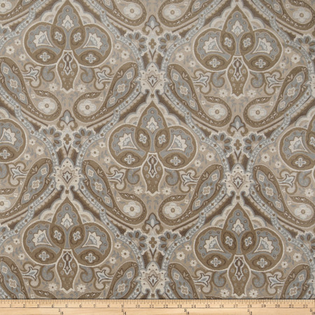 Jaclyn Smith 02102 Paisley Tapestry Jacquard Lagoon Fabric