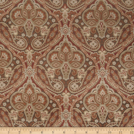 Jaclyn Smith 02102 Paisley Tapestry Jacquard Spicewood Fabric