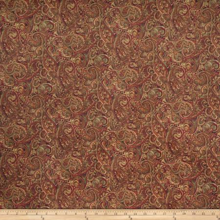 Jaclyn Smith 02126 Paisley Blend Brick Fabric