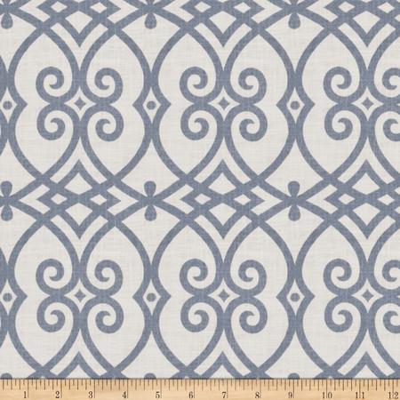Jaclyn Smith 02616 Architect Blend Indigo Fabric