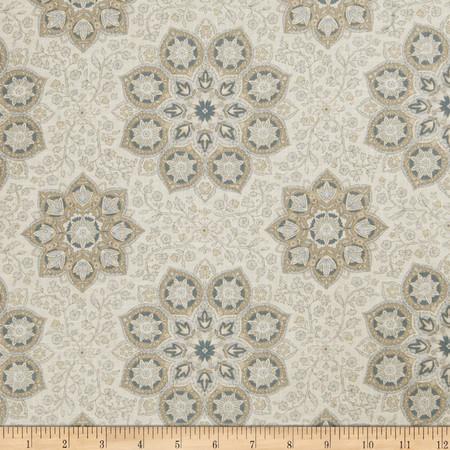 Jaclyn Smith 02618 Suzani Blend Indigo Fabric